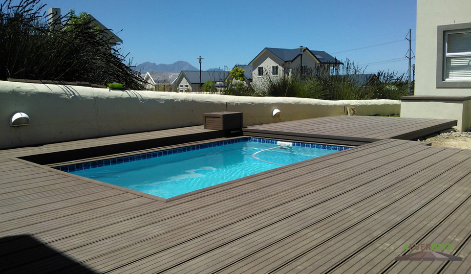 Pool decking photo gallery 4everdeck - Covering a swimming pool with decking ...