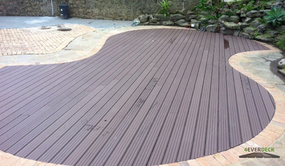 4everdeck Chocolate Brown Composite Deck Boards As A Permanent Pool Cover